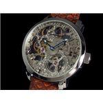 GALLUCCI(ガルーチ) 腕時計 手巻き スケルトン WT22200SK-SSBR