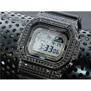 カスタム Gショック デコG 腕時計 石付きベゼル GLX5600-1BB - 拡大画像