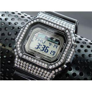 カスタム Gショック デコG 腕時計 石付きベゼル GLX5600-1BW - 拡大画像