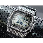 カスタム Gショック デコG 腕時計 石付きベゼル GLX5600-1BW