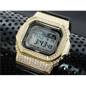 カスタム Gショック デコG 腕時計 石付きベゼル GLX5600-1GW - 拡大画像