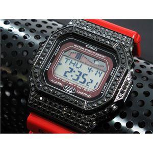 カスタム Gショック デコG 腕時計 石付きベゼル GLX5600-4BB - 拡大画像