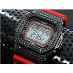 カスタム Gショック デコG 腕時計 石付きベゼル GLX5600-4BB