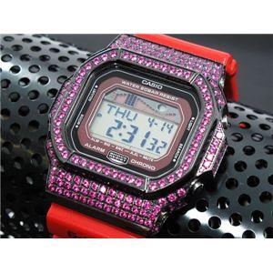 カスタム Gショック デコG 腕時計 石付きベゼル GLX5600-4BP - 拡大画像