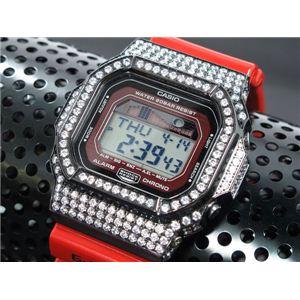 カスタム Gショック デコG 腕時計 石付きベゼル GLX5600-4BW - 拡大画像