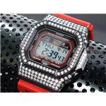 カスタム Gショック デコG 腕時計 石付きベゼル GLX5600-4BW