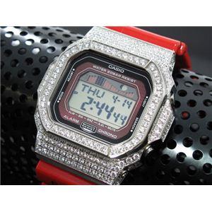 カスタム Gショック デコG 腕時計 石付きベゼル GLX5600-4SW - 拡大画像