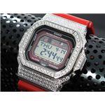 カスタム Gショック デコG 腕時計 石付きベゼル GLX5600-4SW