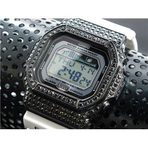 カスタム Gショック デコG 腕時計 石付きベゼル GLX5600-7BB - 拡大画像