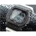 カスタム Gショック デコG 腕時計 石付きベゼル GLX5600-7BB