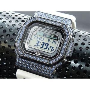 カスタム Gショック デコG 腕時計 石付きベゼル GLX5600-7BBU - 拡大画像