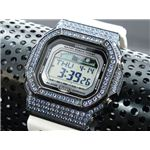 カスタム Gショック デコG 腕時計 石付きベゼル GLX5600-7BBU