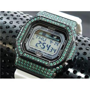 カスタム Gショック デコG 腕時計 石付きベゼル GLX5600-7BGR - 拡大画像