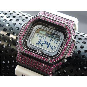 カスタム Gショック デコG 腕時計 石付きベゼル GLX5600-7BP - 拡大画像