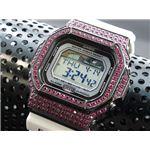 カスタム Gショック デコG 腕時計 石付きベゼル GLX5600-7BP