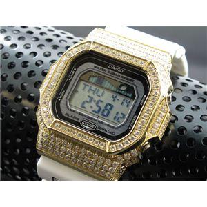 カスタム Gショック デコG 腕時計 石付きベゼル GLX5600-7GW - 拡大画像