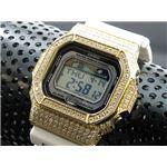 カスタム Gショック デコG 腕時計 石付きベゼル GLX5600-7GW