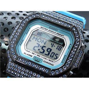 カスタム Gショック デコG 腕時計 石付きベゼル GLX5600A-2BBU - 拡大画像