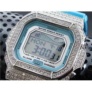 カスタム Gショック デコG 腕時計 石付きベゼル GLX5600A-2SW - 拡大画像