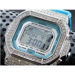 カスタム Gショック デコG 腕時計 石付きベゼル GLX5600A-2SW