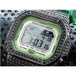 カスタム Gショック デコG 腕時計 石付きベゼル GLX5600A-3BB