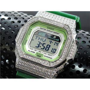 カスタム Gショック デコG 腕時計 石付きベゼル GLX5600A-3SW - 拡大画像