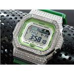 カスタム Gショック デコG 腕時計 石付きベゼル GLX5600A-3SW
