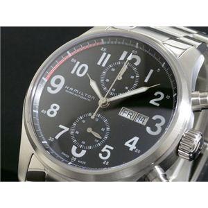 HAMILTON(ハミルトン) カーキ オフィサー オート クロノ 腕時計 H71716133 - 拡大画像