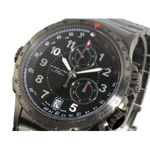 HAMILTON(ハミルトン) カーキ ETO クロノグラフ 腕時計 H77672133 - 拡大画像