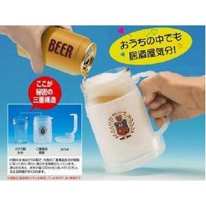【注いだビールが0℃で飲めるビールジョッキ】 ゼロジョッキ(ガラス製) - 拡大画像