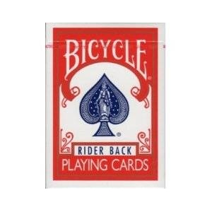 【トランプ】BICYCLE(バイスクル)ライダーバックポーカーサイズ【レッド】