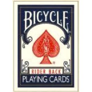 【トランプ】BICYCLE(バイスクル) ライダーバック ポーカーサイズ 【ブルー】 - 拡大画像