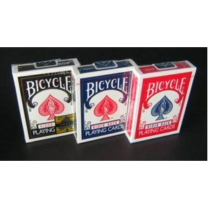 【トランプ】BICYCLE(バイスクル)ライダーバックポーカーサイズ【ブラック・レッド・ブルー】【3色セット】