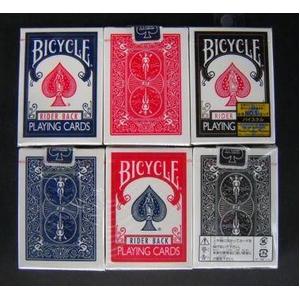 【トランプ】BICYCLE(バイスクル) ライダーバック ポーカーサイズ 【ブラック・レッド・ブルー】【3色セット】