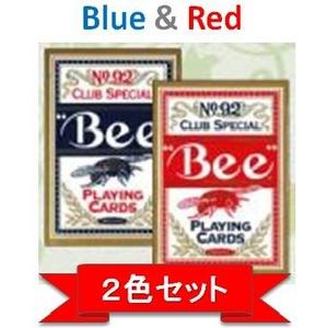 【トランプ】Bee(ビー)ポーカーサイズ【レッド・ブルー】【2色セット】
