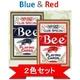 【トランプ】Bee(ビー)ポーカーサイズ 【レッド・ブルー】【2色セット】 - 縮小画像1