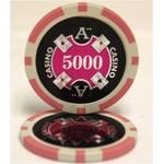 Quattro Assi(クアトロ・アッシー)ポーカーチップ(5000) 桃 <25枚セット>
