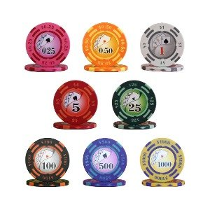 【米国製】フォースポット チップセット100枚[1、 10、 100、 500] - カジノチップ・ポーカーチップ