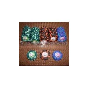 フォースポット チップセット100枚 [25 、 100 、 500] - カジノチップ