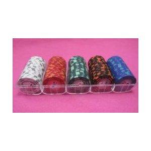 フォースポット チップセット100枚 [1、 5、 25、 100、 500] - カジノチップ・ポーカーチップ