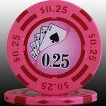 フォースポット チップ ( 25C ) <25枚セット> -カジノチップ・ポーカーチップ