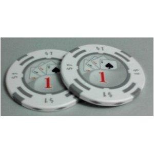 フォースポット チップ ( 1$ ) <25枚セット> - カジノチップ・ポーカーチップ