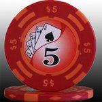 フォースポット チップ ( 5$ ) <25枚セット> - カジノチップ・ポーカーチップ