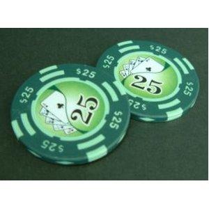 フォースポット チップ ( 25$ ) <25枚セット> - カジノチップ・ポーカーチップ