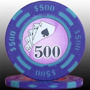 フォースポットチップ(500$)<25枚セット>-カジノチップ・ポーカーチップ