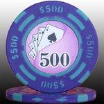 フォースポット チップ ( 500$ ) <25枚セット> - カジノチップ・ポーカーチップ