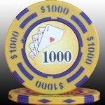 フォースポット チップ ( 1000$ ) <25枚セット> - カジノチップ・ポーカーチップ