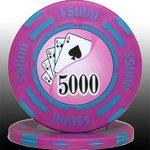 フォースポット チップ ( 5000$ ) <25枚セット> - カジノチップ・ポーカーチップ