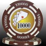フォースポット チップ ( 10000$ ) <25枚セット> - カジノチップ・ポーカーチップ