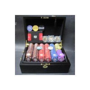 フォースポット・ポーカーセット500 -マホガニーケース(チップセット)